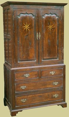 Oak Linen Press with 4 drawers and ogee panelled doors. Handmade bespoke, from our hand crafted bedroom furniture range. Oak Bedroom Furniture, Bedside Cabinet, Panel Doors, Cupboard, Drawers, Handmade, Crafts, Home Decor, Clothes Stand