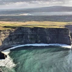 Looking south, can you spot the visitor centre at the Cliffs of Moher with Liscannor and Lahinch in the background.