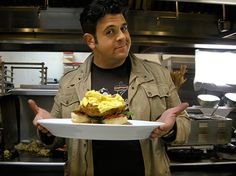 Adam and the Fried Chicken Benedict at the Hash House A Go Go... yup when i go to Las Vegas ima eat here for breakfast... maybe dinner too.