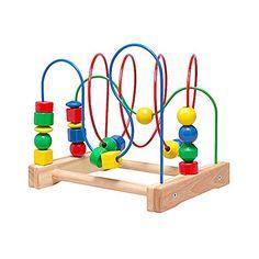 Ikea Wooden Bead Roller Coaster, Multicolor IKEA http://www.amazon.com/dp/B000OP1YWO/ref=cm_sw_r_pi_dp_X14Yvb0ES65Q9