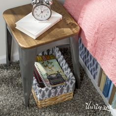 Create a place for a bedtime study session with the Your Way Rectangle Basket.