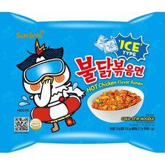 Samyang Hot Chicken Buldak Ramen ICE Bibim Noodle (151g, 755G - 5PK) Samyang Ramen, Chicken Flavors, Hot Sauce, Noodles, Ice, Cold, Korean, China, Japan