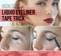 DDG DIY: The winged liner sticky tape trick  | featured hp main feature eye makeup and trends ddg diy beauty tips beauty 2 beauty 2  picture