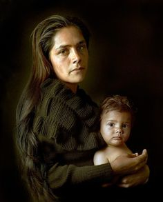 A mother and child nomad from the #Portuguese Alentejo photographed in the style of Old Master paintings by #PierreGonnord. These people live as their ancestors did in accordance with the land raising horses and growing fruit across the #IberianPeninsula by featureshoot
