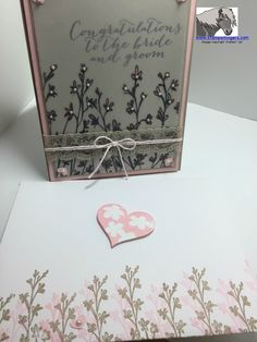 Stampin' Up! New Sale-A-Bration Item Sheer Perfection Designer Vellum Stack and Nature's Perfection stamp set with 2015 Occasions stamp set For the New Two