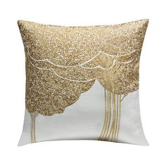 When art and skill combine you ought to get something so astonishing as this Off-White and Silver classic Zen cushion cover. Featuring Classic Bodhi