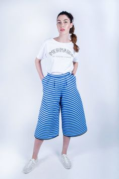 """White short-sleeve sweatshirt featuring the quote """"mermaids. no fishing, please"""". Eco fashion, ethical fashion, fair trade clothing, eco friendly clothing, organic clothing, sustainable fashion, made in UK. Mermaids collection by Etrala London. SS16. Summer 2016."""