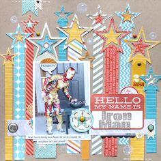 #papercraft #scrapbook #layout   Iron Man - Scrapbook.com