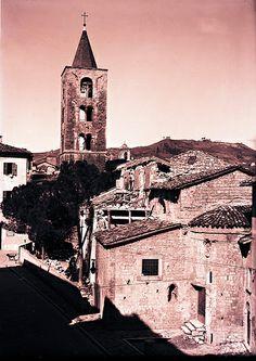 Ascoli com'era: chiesa di Santa Maria Intervineas, lavori di ripristino (1953)