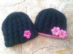 zimní copánková čepice