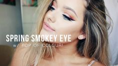 Spring Smokey eye with a pop of colour! | Rachel Leary