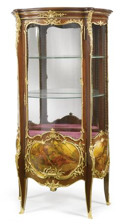 Attributed to Antoine Krieger<br>A LOUIS XV STYLE GILT BRONZE MOUNTED MAHOGANY AND VERNIS MARTIN DECORATED VITRINE AFTER A MODEL BY FRANCOIS LINKE<br>Paris, first quarter 20th century   Lot   Sotheby's