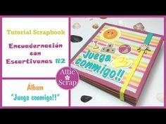 TUTORIAL: #2 Encuadernación con ESCARTIVANAS (Álbum Juega Conmigo!!) - YouTube Tutorial Scrapbook, Scrapbooking, Crafts For Kids, Youtube, Blog, Attic, Ideas, Paper, Scrapbook