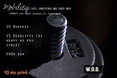 #wod #workoutoftheday #crossfit #viaprive #fitness
