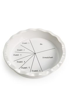 One for you, two for me (and one for breakfast, too!). This pie plate is so true!