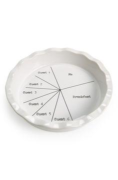 A real talk pie pan.