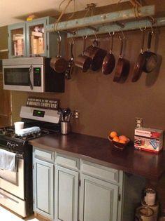 Merveilleux My Friendu0027s Kitchen   So Awesome! Ladder Pot Rack, Birch Counter Tops,  Beautiful