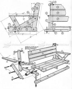#2359 Porch Swing Plans - Outdoor Furniture Plans