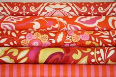 SALE Taza - Fiery RED Fat Quarter Bundle (1 and 1/4 Yards total)