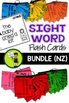 This pack involves 154 Year One Sight Word Flash Cards based on the New Zealand… Pre-k Resources, School Resources, School Worksheets, Daily 5 Activities, Sight Word Activities, Teaching Reading, Reading Comprehension, Teaching Aids, Sight Word Flashcards