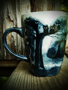 Owl Mug perfect for those cups of extra dark hot chocolate during those creeping on less than zero nights.