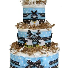 Diaper cake with lambs!