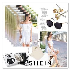 """""""shein"""" by ilona-828 ❤ liked on Polyvore featuring Chanel, WithChic, Summer, dress, polyvoreeditorial and shein"""