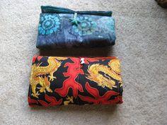make-up rolls I made using Rachel Hauser's pattern