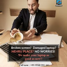 Broken Screen? Damaged Laptop? Now you don't need to rush to Nehru Place for all your laptop repairs and services. Get doorstep service with no visitation charges across Delhi. Laptop Home Services make your laptop as good as new. So save our number in your emergency contacts. Call now : +91-9560991641. #LaptopHomeServices #WiFiSpeed #consultation #malwares #Trojanhorse Laptop Slow, Broken Screen, Laptop Repair, No Worries, Good Things, Number, Make It Yourself, How To Make