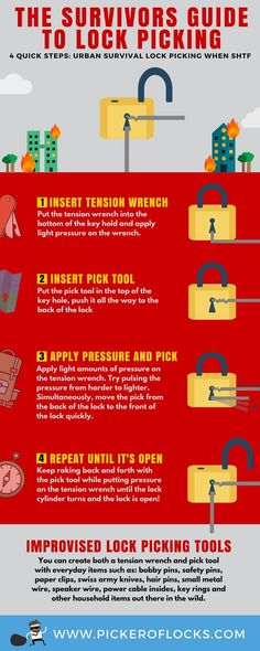 Learn how to pick a lock quickly. Lock picking is a fun hobby and important urban survivalistskill whenSHTF comestofind shelter, food, andmore