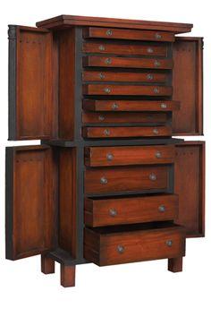 Large Jewelry Box Quartered Sapele Mahogany Jewelry chest Box