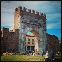 The city gate of 'Ariminum' (#Rimini) #adrimob - Instagram by @melvin