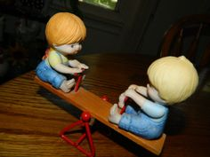 Vintage Boy & Girl Playing on a Teeter by ZiggyzAttic on Etsy