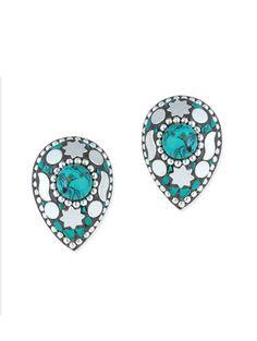 multi colored brass studs - Online Shopping for earrings