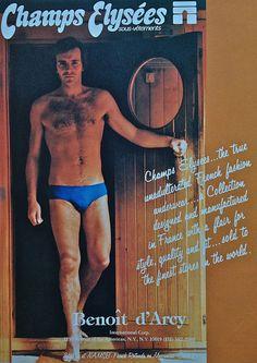 45cc80fc7e2 1978 Men s Fashion Advertisement Vintage 1970s Menswear 6 Champs Elysees Briefs  Underwear