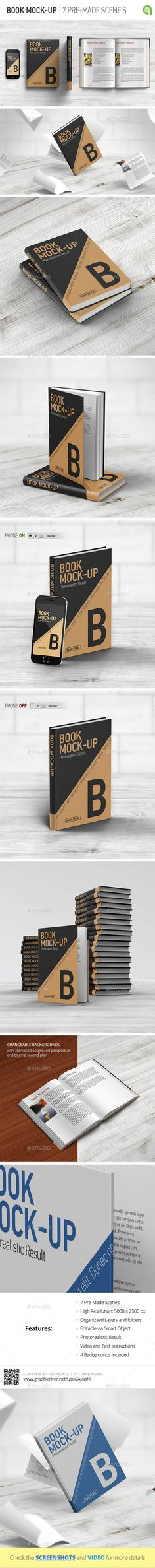 Book MockUp — Photoshop PSD #showcase #hard cover • Available here → https://graphicriver.net/item/book-mockup/8954816?ref=pxcr