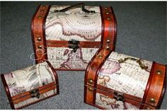 This superb Map Treasure Box would suit a couple who are having a [theme] themed wedding.