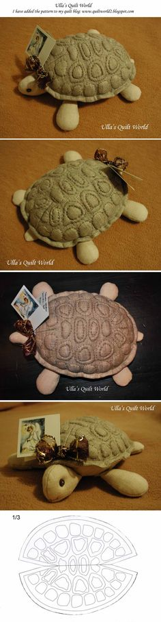 Trapunto turtle, quilt, Pattern by Ulla's Quilt World. I have added the pattern to my quilt blog.