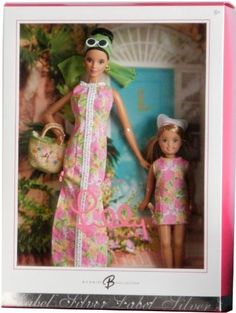 Barbie Collector Silver Label Doll Collection by Lilly Pulitzer...