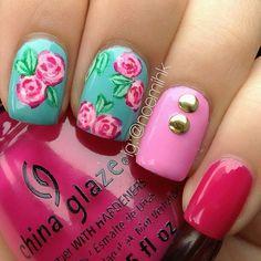 Mint, pink