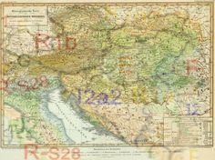Etnografska mapa austrougarske sa mapom haplogrupa pre 2000 godina