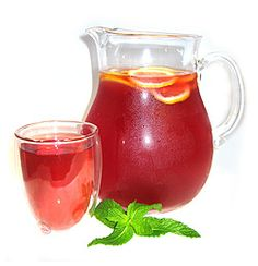 Mint-Infused Cranberry Water