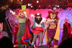Villains Unleashed event at Walt Disney World by insidethemagic, via Flickr, Stromboli, Foulfellow and Gideon from Pinocchio