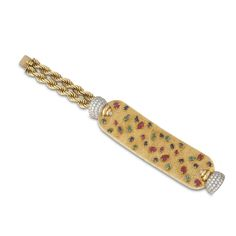 BOUCHERON. A gem-set and diamond bracelet