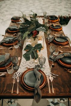 This Moody Tropical Wedding at Acre Baja Plays Up the Gorgeous Natural Surroundi. - This Moody Tropical Wedding at Acre Baja Plays Up the Gorgeous Natural Surroundings Tropical Vibes, Tropical Decor, Tablescapes, Event Planning, Wedding Colors, Wedding Flowers, Wedding Dresses, Our Wedding, Wedding Ceremony