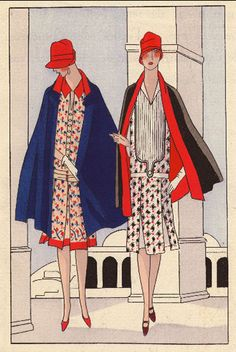 From the 'Inspired by...' blog post 'A/W fashion trend - Navy blue'. Image: From 1920s fashion by Philippe et Gaston from Art, Gout, Beaute