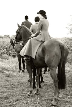 Cubbing with the Taunton Vale - Side Saddle