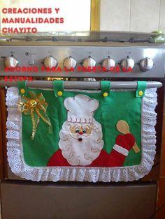 Christmas (handle wrap) Decor - Home Decor Styles Christmas Sewing, Christmas Kitchen, Vintage Christmas, Christmas Cooking, Christmas Projects, Holiday Crafts, Christmas Time, Santa Christmas, Grinch Christmas Decorations