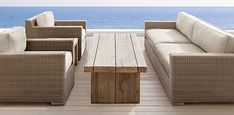 I think we could make this center table with the leftover wood from boat house…..Furniture Collections | Restoration Hardware