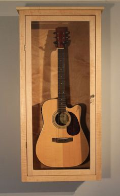 Acoustic Guitar Display Case Wall Mount By DougsRustics On Etsy